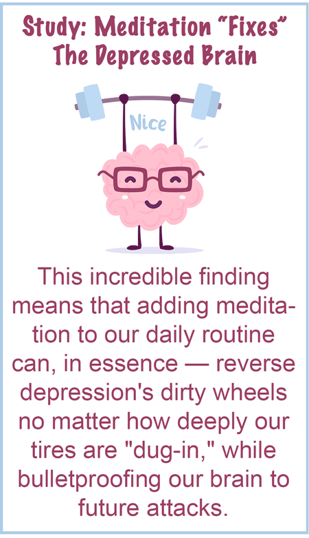 How meditation reverses the main cause of depression